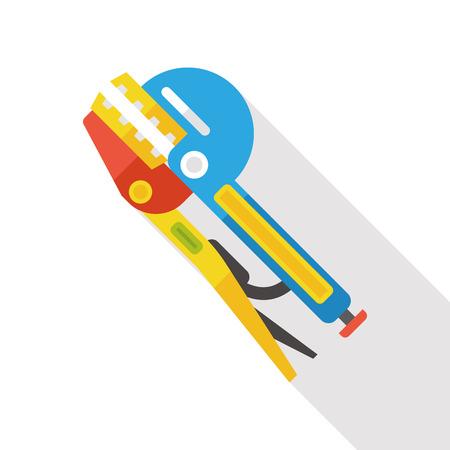 pliers: Pliers tool flat icon