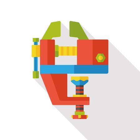 screwdrivers: Screwdrivers tool machine flat icon Illustration