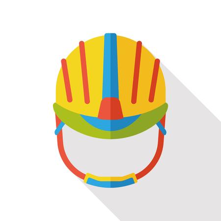 hard cap: tool helmet flat icon