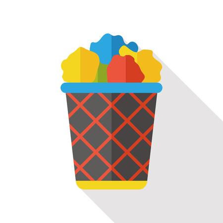 pencil box: pencil box flat icon Illustration