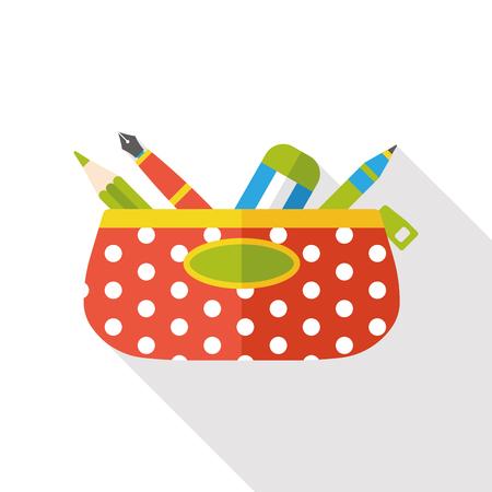 pencil case flat icon