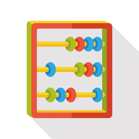 math icon: Abacus math flat icon