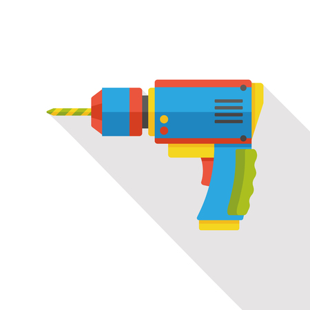 construction tools: tool drill industry flat icon