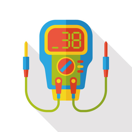 odometer: Level meter flat icon Illustration