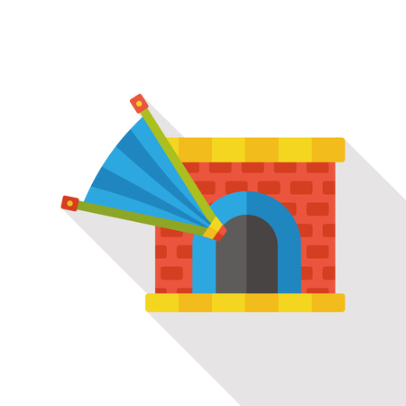 fireplaces: Fireplace chimney heat flat icon