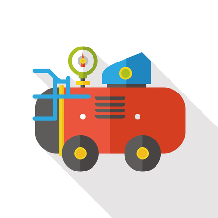 compressed air hose: Air Compressor flat icon Illustration