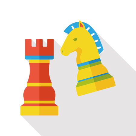 game chess flat icon Illustration