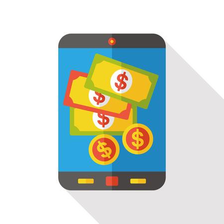 cellphone: money cellphone flat icon