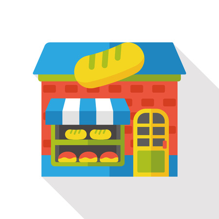 bakery store: shop store bakery flat icon