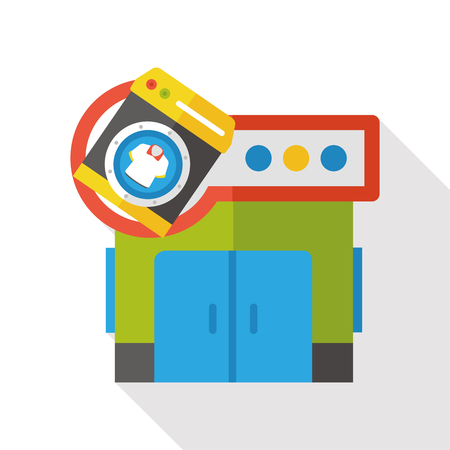 store: laundry store flat icon