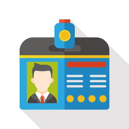 Identification card flat icon