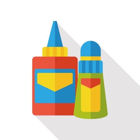 glue: stationery glue flat icon Illustration