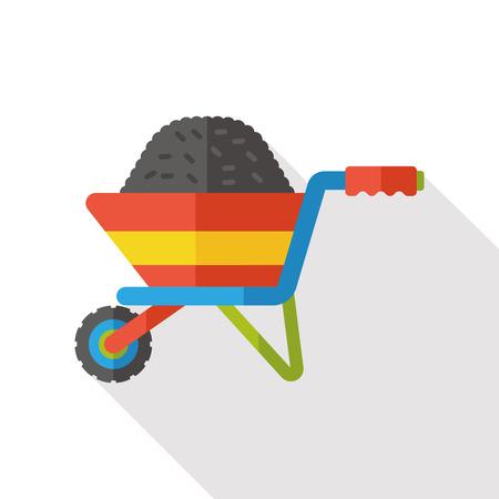 barrow: barrow cart flat icon Illustration