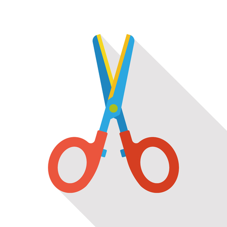 dividing lines: scissors stationery flat icon