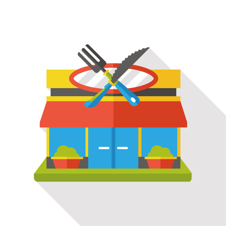 diner store flat icon