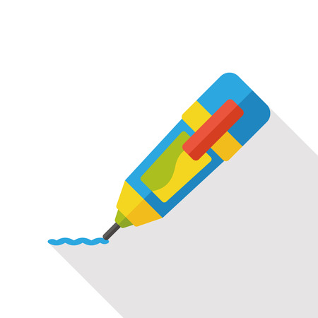 correction: Correction Fluid flat icon Illustration