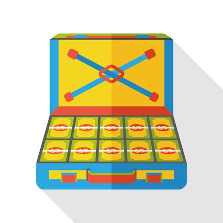 cash box: money cash Box flat icon