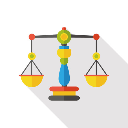notary: Balance level flat icon Illustration
