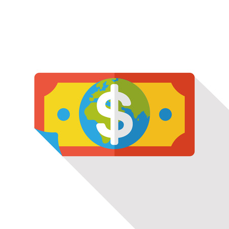 cash money: money cash flat icon Illustration