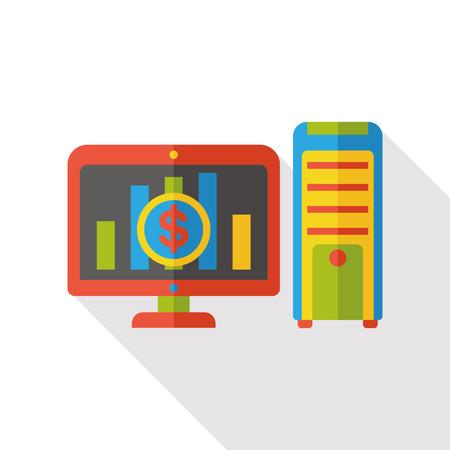 flat screen: computer screen flat icon