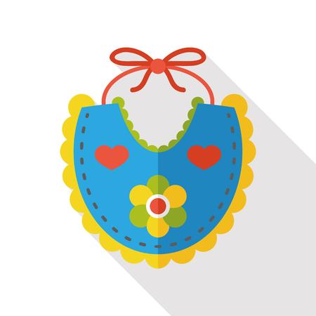 babero: Babero de bebé icono plana Vectores