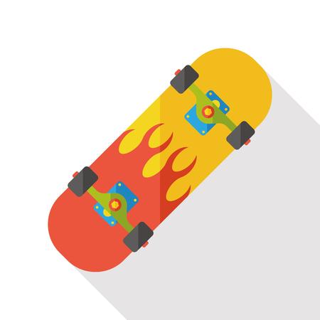 symbol sport: sport skateboard flat icon