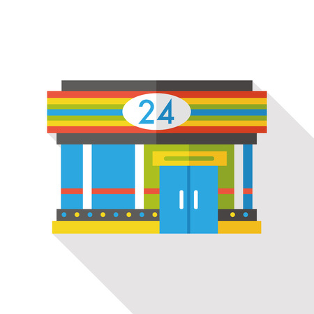 convenient store: convenient store flat icon Illustration