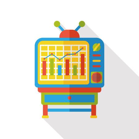 screen: TV screen flat icon