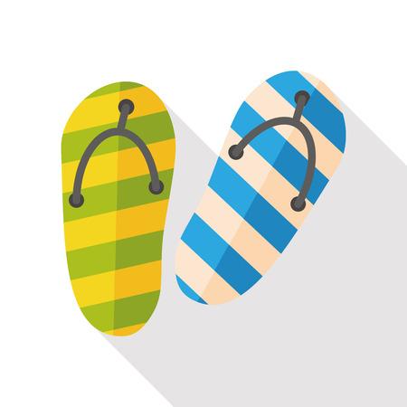 sandalia: Deslizadores de la sandalia plana icono