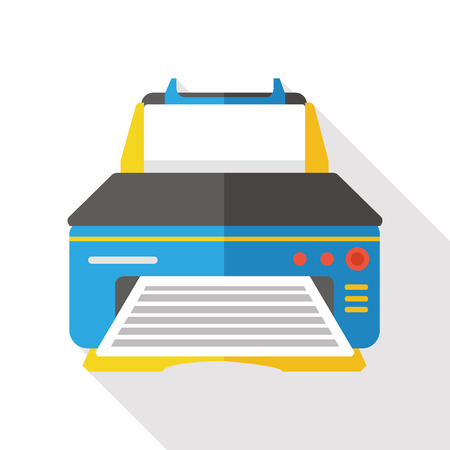 computer printer flat icon Stock Vector - 48877924