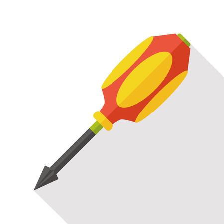 screwdrivers: Screwdrivers tool flat icon Illustration