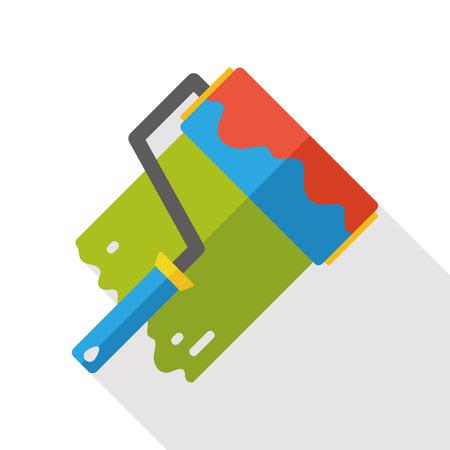 paint tool: Paint brush tool flat icon Illustration