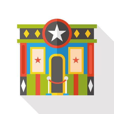 teatro: cine icono plana Vectores
