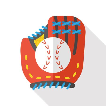 american media: sport baseball flat icon