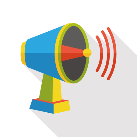 loudspeaker: voice loudspeaker flat icon Illustration
