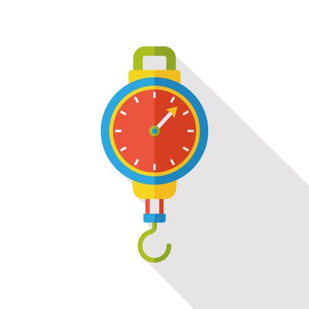 weighing: Weighing machine flat icon