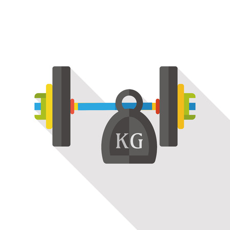 weightlifting: sport weightlifting flat icon