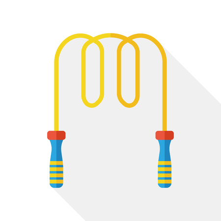 skipping: sport rope skipping flat icon Illustration