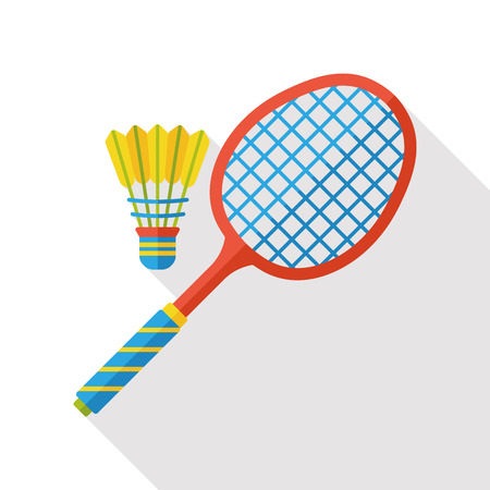 badminton racket: sport badminton flat icon