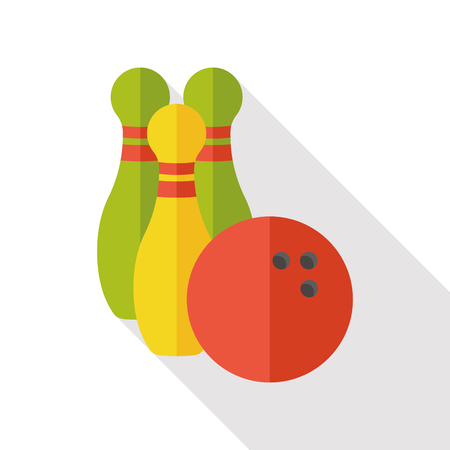 ten pin bowling: sport bowling flat icon