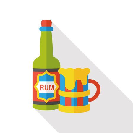 wine barrel: wine barrel flat icon Illustration