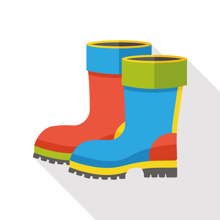 idea comfortable: rain boot flat icon