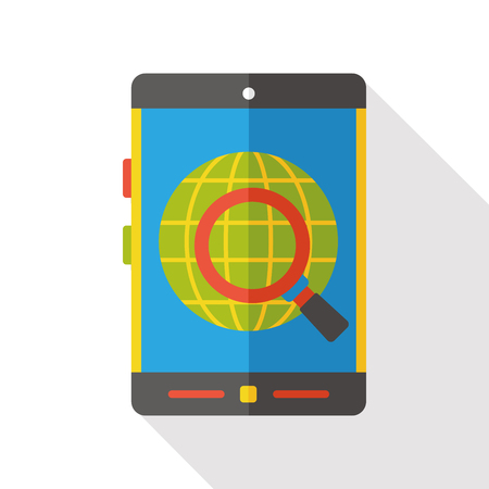 multimedia: multimedia cellphone flat icon Illustration