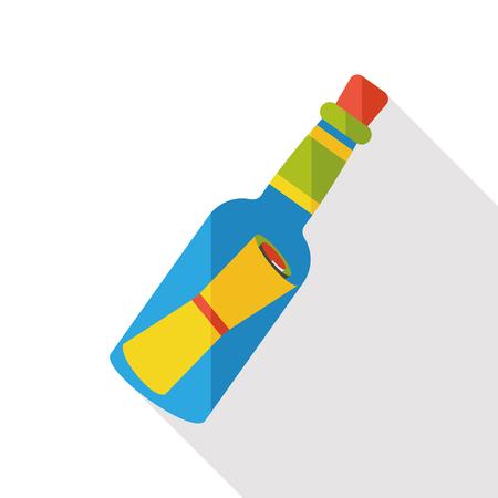 castaway: Message in a Bottle flat icon