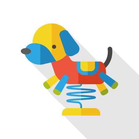 mongrel: toy dog flat icon Illustration