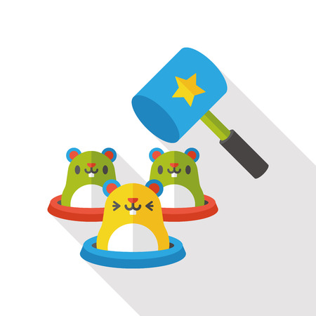 beat the competition: whack-a-mole flat icon