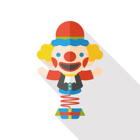 payaso: juguete payaso icono plana