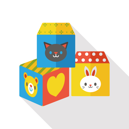 children education: Building Blocks flat icon