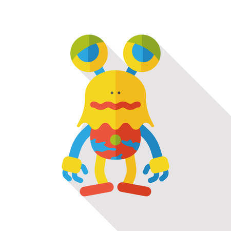 alien face: Space Alien flat icon Illustration