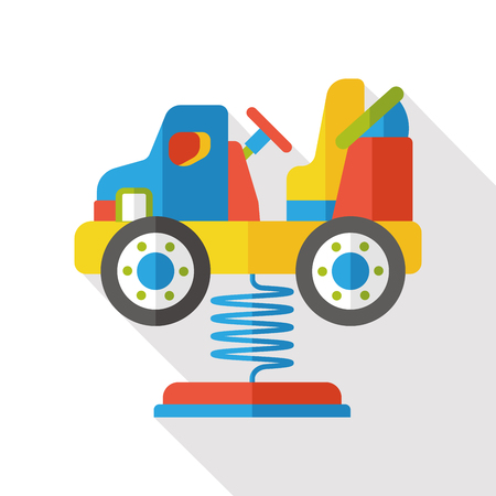 bash: amusement car flat icon Illustration
